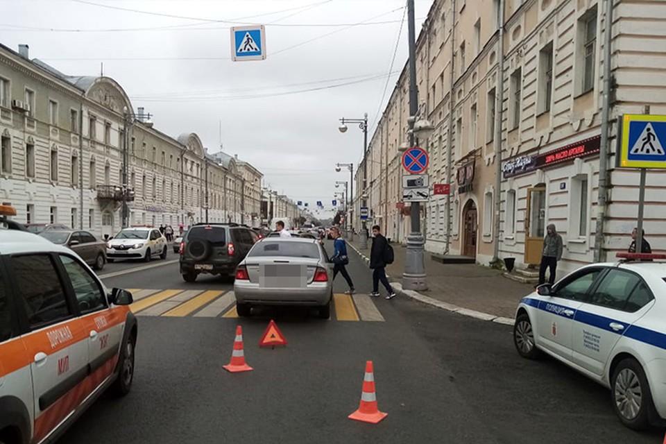 На Советской сбили пешехода Фото: УГИБДД России по Тверской области