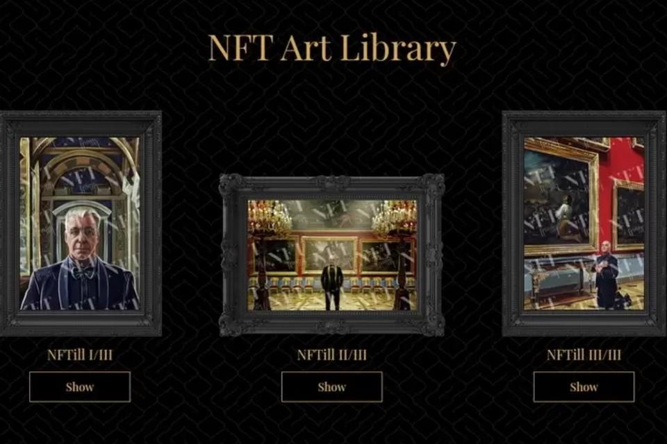 Эрмитаж простил Тилля Линдеманна за нелегальную продажу изображений с интерьерами музея. Фото: nft-frame-art.com