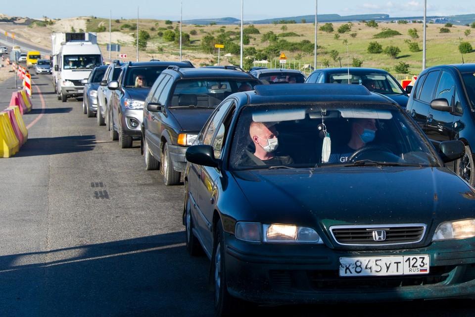 Где образовались пробки в Краснодарском крае на трассах по пути с моря.