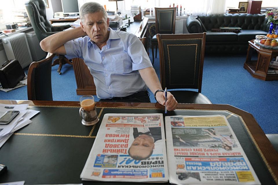В прямом эфире радиостанции «Эхо Москвы» главный редактор «Комсомольской правды» Владимир Сунгоркин высказал свою позицию в истории с колонкой Ульяны Скойбеды